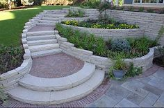 14 Diy Retaining Wall Ideas For Beautiful Gardens - Marina Punzi - Pineagle Diy Retaining Wall, Retaining Wall Design, Landscaping Retaining Walls, Hillside Landscaping, Front Yard Landscaping, Landscaping Ideas, Garden Retaining Walls, Garden Steps, Garden Paths