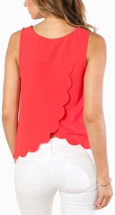 Coral Scalloped Back