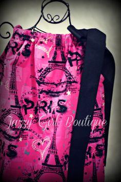 Girls Pillowcase Dress Paris Fashion with a by JazzyGirlBoutique, $18.75