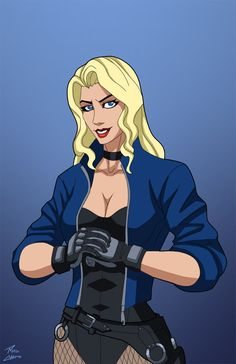Playing around on Photoshop. I decided to give Black Canary a mask, like she has…