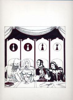 Hellfire Club by Howard Chaykin Comic Art