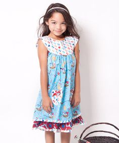 Aqua Hey Sailor Sailor Dress - Infant, Toddler & Girls by Jelly the Pug: Summertime Specials on #zulilyUK today!