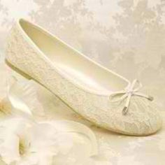 Wedding flats - we all know I wont be wearing heals !