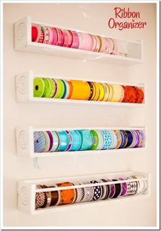 organizing craft supplies in a small space | pic-1-ribbon-organizer-done