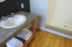 An easy and inexpensive DIY how-to pour concrete vanity tops and shower curbs, with step by step instructions and products. Concrete Sealer, Mix Concrete, Concrete Color, Poured Concrete, Concrete Structure, Concrete Projects, Cement, Vanity Tops, Diy Vanity