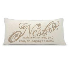 Nest3 decorative throw pillow  nest pillow  accent by BuyAPillow, $39.00