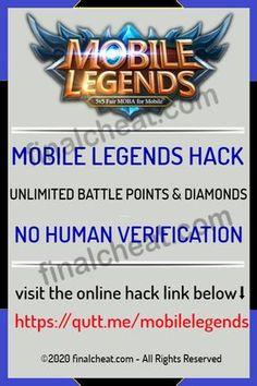 Mobile Legends Hack Tools — No Verification — Unlimited Diamonds (Android . No Human Verification Mobile Legends Hack 2020 Updated - Unlimited Free Battle Points and Diamonds No Survey Ticket Generator, Mobile Generator, Clash Of Clans Hack, Point Hacks, Coin Master Hack, Legend Games, Play Hacks, App Hack, Online Mobile