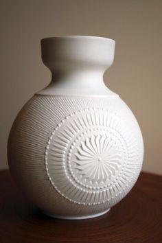 Vintage Round Porcelain Vase  Kaiser AK 1960's/1970's by beebleboy