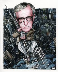 Drew Friedman :: Woody Allen, The New York Observer