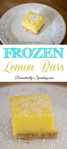 Frozen Lemon Bars Easy No Bake Dessert perfect during the heat of summer!