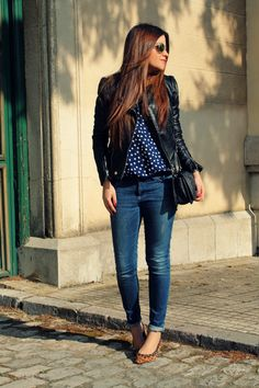 LITTLE BLACK COCONUT: Polka-dots + animal print