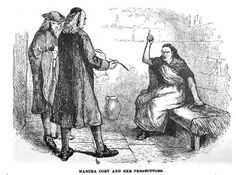"""English: Drawing of Martha Corey who was hanged for witchcraft at the Salem Witch trials in 1692 Date1883 Source""""Stranger's Illustrated Guide to Boston and its Suburbs"""" by James Stark, 1883 AuthorJames Stark"""