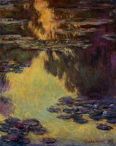 Acheter Tableau 'nénuphars (55)' de Claude Monet - Achat d'une reproduction sur toile peinte à la main , Reproduction peinture, copie de tableau, reproduction d'oeuvres d'art sur toile