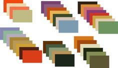 These colours are typical for the houses in the 1930s and used in paints, wallpapers and fabrics.