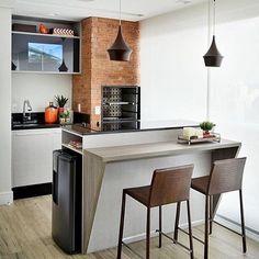 E quem disse que um terraço gourmet não pode ser sofisticado e clean??…