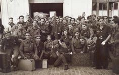 Llegada a la capital de un grupo de voluntarios de la División Azul, repatriados del frente ruso. (Hermes Pato) 12-8-1943