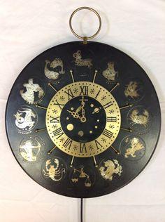 United Metal Goods Zodiac Clock 209 by ModOnMain on Etsy https://www.etsy.com/listing/196158291/united-metal-goods-zodiac-clock-209