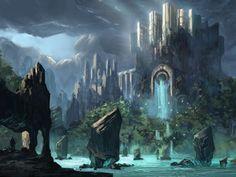 Fantasy Castle, Painting