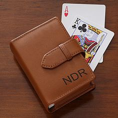 Give that special man in your life a gift they can cherish forever with the Personalized Leather Playing Card Case. Find the best personalized mens' gifts at PersonalizationMall.com