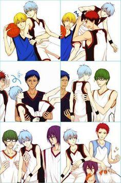 The Generation of Miracles lifting Kuroko (and Akashi)