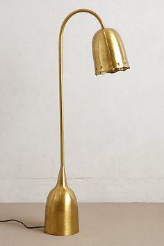 archway floor, floor lamps, table lamps, floors, floor gold, gold lamp, anthropologie, brass, light