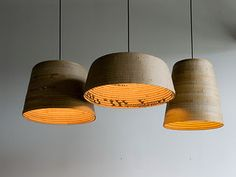 Corrugated cardboard lights