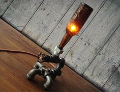 Vintage Brewery Bottle Lamps | Cool Material