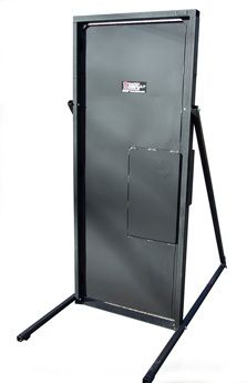 The innovative design of the Ram RatDoor™ allows for continual breach training without the costs associated with specialized consumables. The Ram version of the TD8036 is an inward opening door that can be installed into a structure or used free-standing with optional leg kit (FSLK).