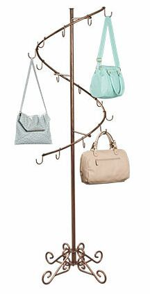 Handbag Display, Purse Rack, Totes Display, Purse Holder, Decorative Purse Displayer