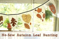 No Sew Autumn Leaf Bunting
