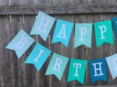 Large birthday banner boy birthday banner blue birthday