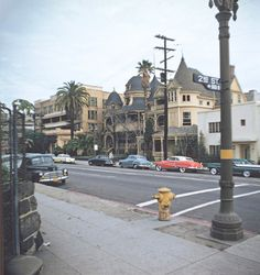 Bunker Hill before it was razed: the Melrose Hotel and Hotel Richelieu at Grand Avenue and Second Street in the late 1950s.