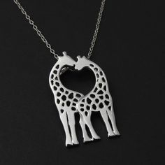 FashionJunkie4Life - Kissing Giraffes Necklace - 925 Sterling Silver, $22.99 (http://www.fashionjunkie4life.com/kissing-giraffes-necklace-925-sterling-silver/) Use coupon code PIN10 for 10% off your entire purchase and free shipping worldwide.