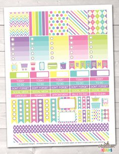 Springtime Printable Planner Stickers Weekly Kit – Instant Download PDF for your Erin Condren Life Planner
