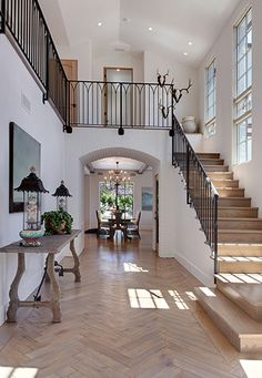 Floor and railings.