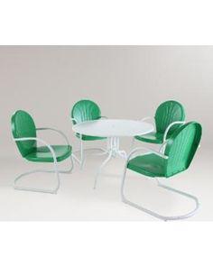 Green Durresi Metal Dining Set, 5-Piece - World Market