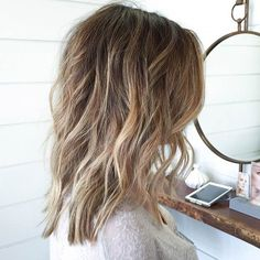 HIGHLIGHTS + LOWLIGHTS BOB When you pair painted on highlights with lowlights, you get this effortlessly beautiful, natural-looking hairstyle. We think that the lighter highlights do a great job of accenting layers in this style. The look is suitable for all face shapes.   Prev1 of 5Next