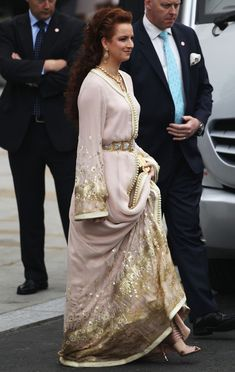 Princess Lalla Salma Princess Lalla Salma of Morocco leaves the Abbey following the marriage of Their Royal Highnesses Prince William Duke o...