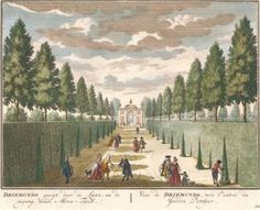 Driemonds gesigt door de Laan, na de ingang vande Moes-Tuin. Het Zegenpralent Kenenmerlant, vertoont in 100 Heerelyke gezichten. Mattaeus Brouerius van Nidek, , Henrik de Leth.