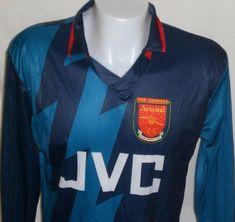 Vintage ARSENAL Jersey Football Shirt JVC 1995-96 Gunner London SOCCER XL  Away  Unbranded d3ca1abf3