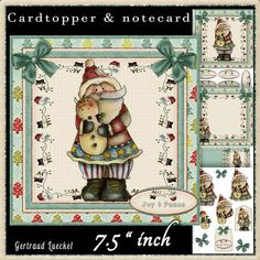 Country Christmas Cardtopper Kit 508 on Craftsuprint - View Now!
