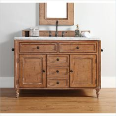 "James Martin Copper Cove Classico 48"" Single Vanity in Driftwood Patina - 300-V48-DRP"