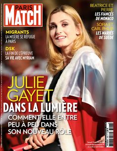cette semaine dans paris match julie gayet la discr te les couvertures de paris match. Black Bedroom Furniture Sets. Home Design Ideas