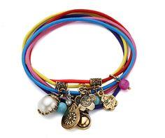 Multicolour Elastic Charm Friendship Bracelets. #Fapos