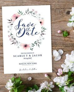 This elegant floral Save the Date card assures you that your friends and family reserve a spot in their calendar for your wedding day. It is the perfect card for a floral or outdoor wedding AND its a very budget friendly option. Customizing these Save the Date cards is a fun and easy DIY project that anyone can do. Simply download, edit, print and trim! Want to get this Save the Date template even more affordable? Sign up for our newsletter at www.papersizzle.com and get 15% off!