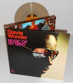 STEVIE WONDER music of my mind Lp Record TAN / YELLOW Vinyl gatefold funk soul #FUNK