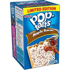 Pop-Tarts Frosted, Maple Bacon, 8 Count (Pack of Funny Food Memes, Food Humor, Stupid Memes, Weird Food, Fake Food, Best Pop Tart Flavors, Pop Tarts, Cafeteria Food, Sweets