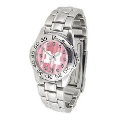 Ladies Mother of Pearl Steel Sport Watch