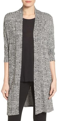 Women's Chaus Marled Rib Open Front Cardigan https://api.shopstyle.com/action/apiVisitRetailer?id=607516004&pid=uid8100-34415590-43