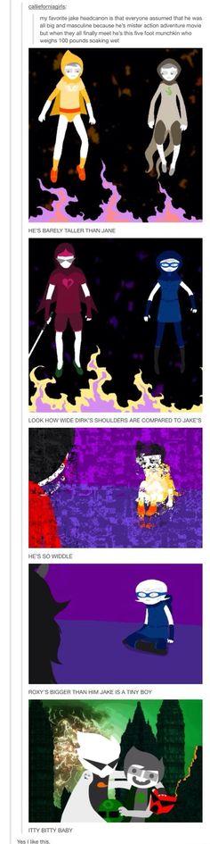 Jake is little just like John! Isn't it cannon when the artist draws it that way?